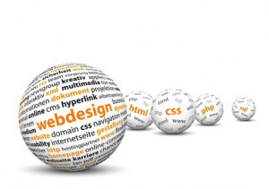 Webdesign, CSS, HTML, PHP, SQL, Kugel, 3D, Wordcloud, Wörter